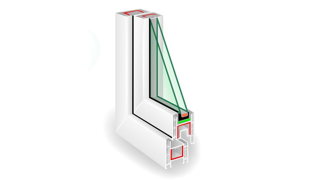 Lango stiklo storis nėra lygus stiklo paketo storiui
